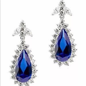 CZ by Kenneth Jay Lane Pear Pave Dangle Earrings